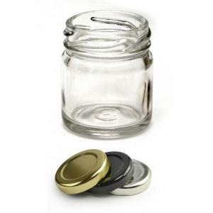 Γυάλινο Βάζο Διάφανο 55 ml Ασημί Καπάκι